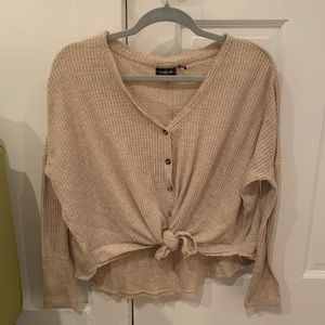 Urban outfitter waffle knit tie top
